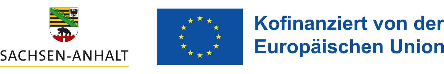 Logo Land Sachsen-Anhalt & Logo Europäische Union, ESF Europäischer Sozialfonds